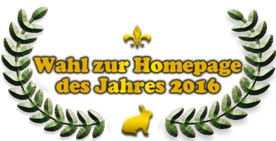 Homepage des Jahres 2016