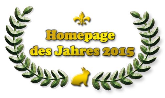 Homepage des Jahres 2014